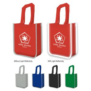 Tote Bag with Reflective Piping