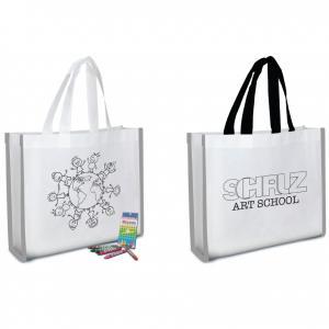 Reflective Coloring Tote Bag w/ Crayons