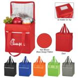 Non Woven Wave Design Cooler Lunch Bag