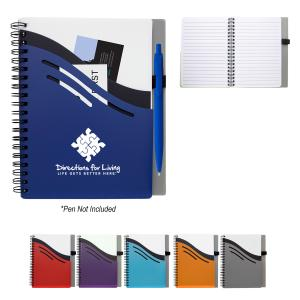 Triple Pocket Spiral Notebook