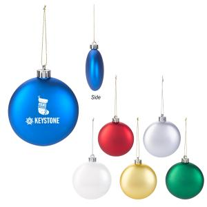 Round Flat Sleek Ornament