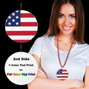 American Flag Plastic Medallion