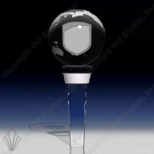 Globe Shaped Crystal Bottle/Wine Stopper