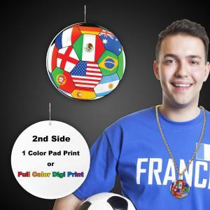 International Flag Plastic Medallion