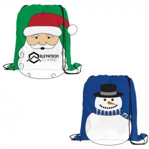 Winter Holiday Themed Drawstring Bag
