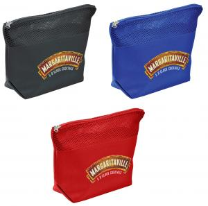 Cosmetic Bag with Upper Mesh Design