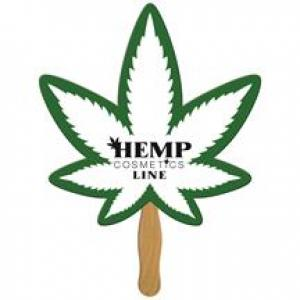 Cannabis Recycled Hand Fan