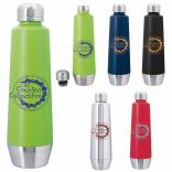 20 oz. Sleek Screw-On Vacuum Stainless Steel Bottle