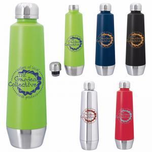 20 oz. Sleek Screw-On Vacuum Stainless Steel Bottle
