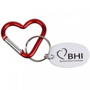 Mini Heart Carabiner with Key Ring
