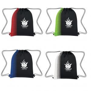 Side Stripe Drawstring Bag