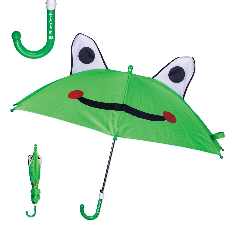 Kids Sized Frog Themed Umbrella