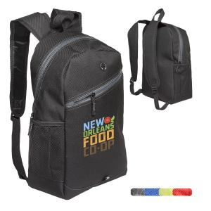 Colored Zipper Laptop Backpack