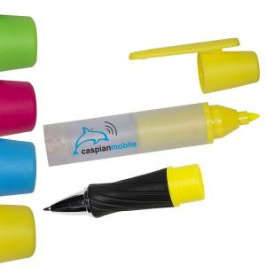 Highlighter/Pen with Cleaning Cloth