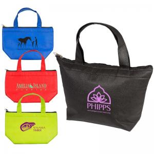 Lunch Size Insulated Non-Woven Tote