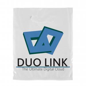 "7.5"" x 9"" 2.0 mil Full Color Die Cut Plastic Bag"