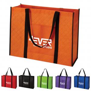 Large Quilted Non-Woven Tote Bag