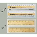 "6"" Architectural and Civil Engineering Double Bevel Ruler Set"