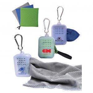 Dewy 2-Tone Cool Towel W/Carabiner Case