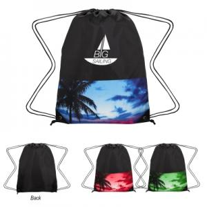 Tropical Drawstring Bag