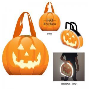 Reflective Jack-O-Lantern Tote Bag