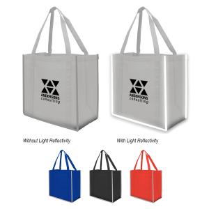 Large Reflective Grocery Tote Bag
