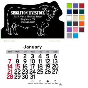 Bull or Cow Shaped Self-Adhesive Calendar