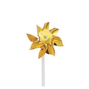 """4"""" Gold Metallic Pinwheel"""
