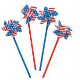 "4"" Patriotic Stars and Stripes Pinwheel"