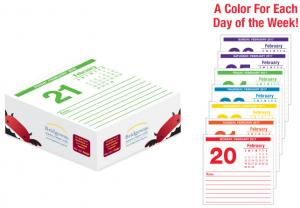 "3"" x 3"" Colorful Calendar Cube Pad"