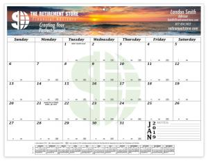 """8.5"""" x 11"""" Full Color 12 Month Compact Calendar"""