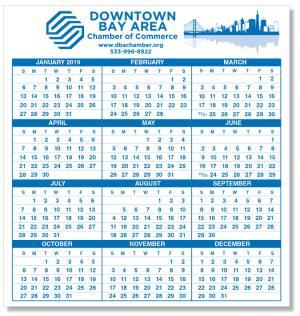 "19"" x 20"" Large Calendar Adhesive Decal"