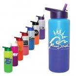 32 Oz. Color Changing Sports Water Bottle with Straw Cap Lid