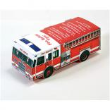 Foldable Die-Cut Fire Truck Full Color