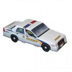 Foldable Die-Cut Sheriff Car Full Color