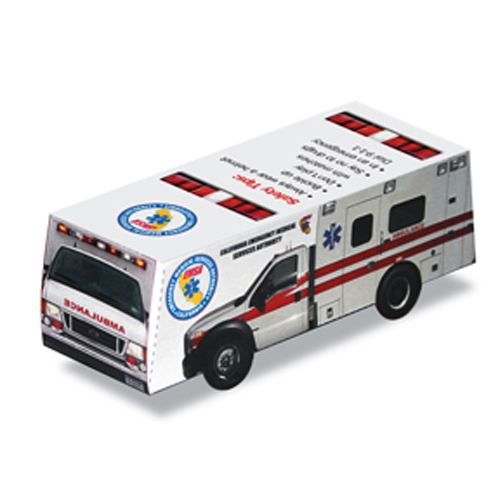 Foldable Die-Cut Ambulance Full Color