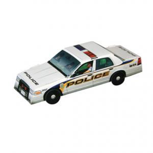 Foldable Die-Cut Police Car Full Color