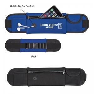 Neoprene Belt Style Fanny Pack With Ear Bud Slot