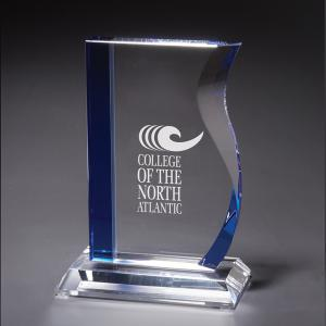 Blue Wave Desktop Glass Award