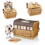 Caribou Wine And Cheese Basket With Table Top