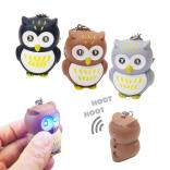 Owl Novelty LED Key Tag