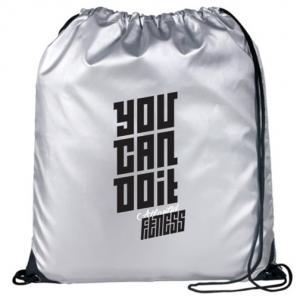 Reflective Metallic Drawstring Bag
