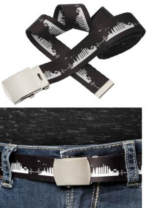 Full Color Adjustable Belt with Buckle