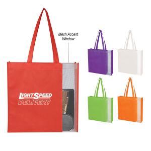 Side Mesh Non-Woven Tote Bag