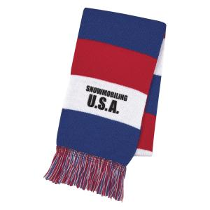 Patriotic Knitted Scarf