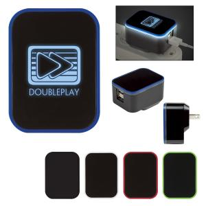 LED Light Up Dual Port Wall Adapter
