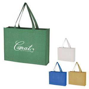 Wide Non-Woven Glitter Tote Bag