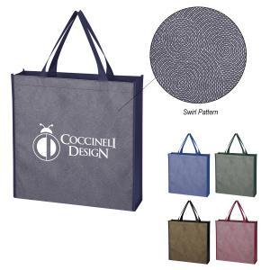 Mini Non-Woven Swirl Pattern Tote Bag
