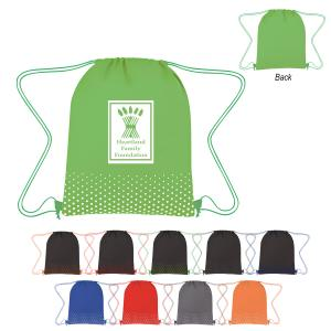 Polka Dots Non-Woven Drawstring Bag