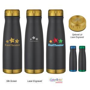 16 oz. Black Stainless Steel Bottle